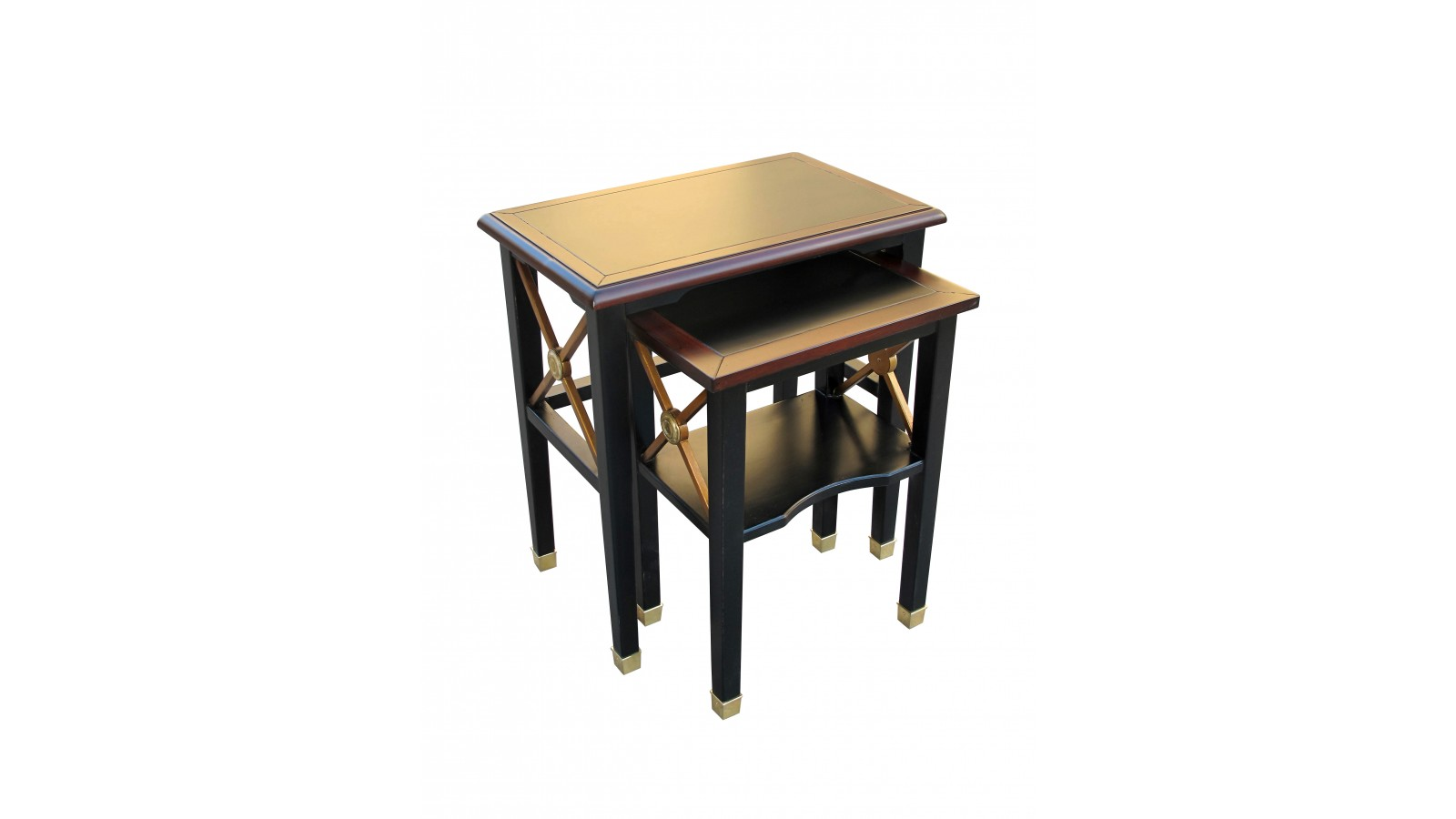 ... Chicago Nest Of 2 Tables M838 MONTIGNY M838_c_black_10_gold_detail_13m1021 5  ...